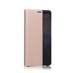 Недорогие Чехлы и кейсы для Huawei Mate-Кейс для Назначение Huawei Mate 10 с окошком Чехол Сплошной цвет Твердый Настоящая кожа для Mate 10 Huawei