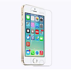Недорогие Защитные пленки для iPhone SE/5s/5c/5-Защитная плёнка для экрана для Apple iPhone SE / 5s / iPhone 5 / iPhone 5c Закаленное стекло 1 ед. Защитная пленка для экрана HD / Уровень защиты 9H / 2.5D закругленные углы