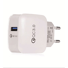 Gocomma QC 3.0 Power Adapter Charger - EU PLUG  WHITE And Black