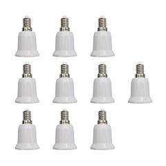 Χαμηλού Κόστους Αξεσουάρ LED-10pcs E14 ως E27 E27 Φωτεινή πρίζα Απλός