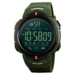 お買い得  メンズ腕時計-SKMEI 男性用 スポーツウォッチ / リストウォッチ / デジタルウォッチ 日本産 Bluetooth / アラーム / カレンダー PU バンド ぜいたく ブラック / グリーン