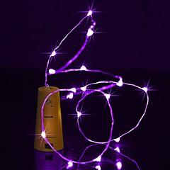 billiga LED-ljusslingor-BRELONG® Ljusslingor 20 lysdioder Varmvit Vit Multifärg Rosa Lila Grön Gul Blå Röd Vattentät <5V