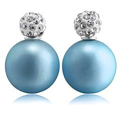 preiswerte Ohrringe-Damen Synthetischer Diamant Ohrstecker - Diamantimitate Modisch Rosa / Golden / Hellblau Für Party / Alltag / Normal