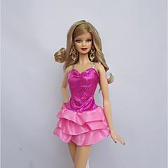 ために バービー人形 ピンク ドレス ために 女の子の 人形玩具