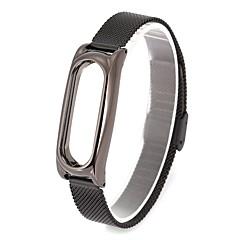 Roestvast staal Horlogeband Band Zwart 24cm / 9 inch 1.4cm / 0.55 Inch