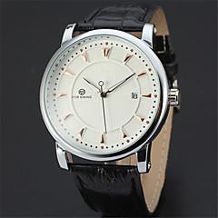 FORSINING Herr Vardaglig klocka Modeklocka Armbandsur Automatisk självuppdragande Kalender Läder Band Ledigt Häftig