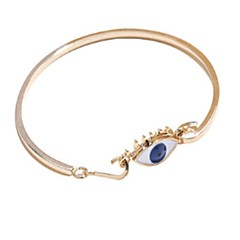 Women's Bangles Casual Fashion Cool Silver Plated Gold Plated Alloy Evil Eye Jewelry For Daily Date