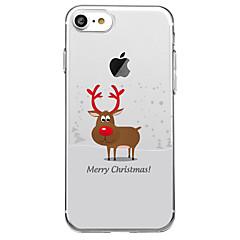 Недорогие Кейсы для iPhone 6-Кейс для Назначение Apple iPhone X iPhone 8 Plus С узором Кейс на заднюю панель Рождество Животное Мягкий ТПУ для iPhone X iPhone 8 Pluss