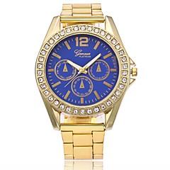 お買い得  メンズ腕時計-男性用 女性用 クォーツ リストウォッチ 中国 カジュアルウォッチ 金属 合金 バンド ぜいたく ドレスウォッチ ファッション ゴールド