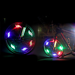 tanie Światła rowerowe-światła bezpieczeństwa LED LED Kolarstwo Lśnienie CR2032 200 Lumenów CR2032 Bateria Wielokolorowy Zielony Niebieski Czerwony Kolarstwo