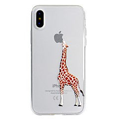 Недорогие Кейсы для iPhone X-Кейс для Назначение Apple iPhone X / iPhone 8 Plus С узором Кейс на заднюю панель Композиция с логотипом Apple / Мультипликация Мягкий ТПУ для iPhone X / iPhone 8 Pluss / iPhone 8