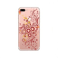 Кейс для Назначение iPhone X iPhone 8 Прозрачный С узором Задняя крышка Цветы Мягкий TPU для iPhone X iPhone 8 Plus iPhone 8 iPhone 7