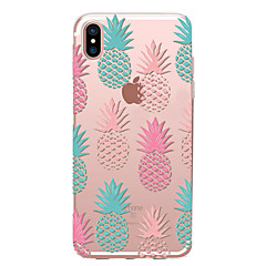 billige Etuier til iPhone 6s-Etui Til Apple iPhone X iPhone 8 Transparent Mønster Bagcover Frugt Blødt TPU for iPhone X iPhone 8 Plus iPhone 8 iPhone 7 Plus iPhone 7