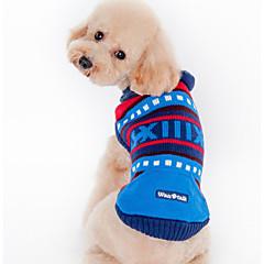 お買い得  犬用ウェア&アクセサリー-犬 セーター 犬用ウェア カジュアル/普段着 縞柄 グリーン ブルー コスチューム ペット用