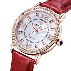 preiswerte Damenuhren-WWOOR Armbanduhr Sender Nachts leuchtend, Cool Schwarz / Braun / Rot