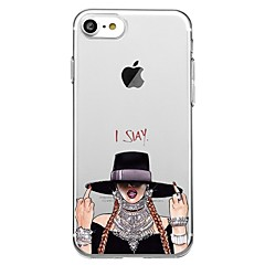 voordelige iPhone 5 hoesjes-hoesje Voor Apple iPhone 8 iPhone 8 Plus Patroon Achterkantje Sexy dame Zacht TPU voor iPhone X iPhone 7s Plus iPhone 8 iPhone 7 Plus