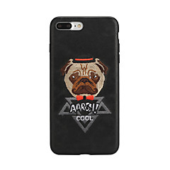 cheap iPhone Cases-Case For Apple iPhone X iPhone 7 Pattern Back Cover Dog Cartoon Hard PU Leather for iPhone X iPhone 8 Plus iPhone 8 iPhone 7 Plus iPhone