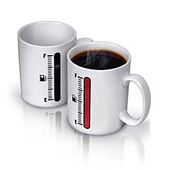 abordables Tazas y vasos-Porcelana ventosa El calor que cambian de color sensible 1 Marrón Café Té Vasos