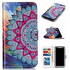 Недорогие Кейсы для iPhone 7 Plus-Кейс для Назначение Apple iPhone X / iPhone 8 Кошелек / со стендом / Флип Чехол Мандала Твердый Кожа PU для iPhone X / iPhone 8 Pluss / iPhone 8