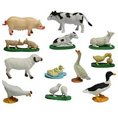Brinquedos & Bonecos de Ação Brinquedos Galinha Pato Porco Ovelha Cow Animais Animais Animal Peças