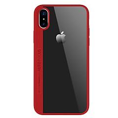 Недорогие Кейсы для iPhone 7-Кейс для Назначение Apple iPhone X iPhone 8 Ультратонкий Прозрачный Кейс на заднюю панель Сплошной цвет Твердый Акрил для iPhone X iPhone