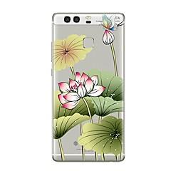 abordables Novedades-Funda Para Huawei P9 Huawei P9 Lite Huawei P8 Huawei Huawei P9 Plus Huawei P8 Lite P9 P10 Transparente Diseños Funda Trasera Flor Suave