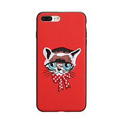 voordelige iPhone 6s Plus-hoesjes-hoesje Voor Apple iPhone X iPhone 8 Patroon Achterkant Kat Hard PU-nahka voor iPhone X iPhone 8 Plus iPhone 8 iPhone 7 Plus iPhone 7