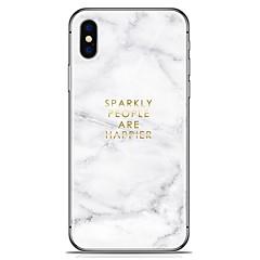 halpa iPhone 7 Plus kotelot-Etui Käyttötarkoitus Apple iPhone X iPhone 8 Plus Kuvio Takakuori Marble Pehmeä TPU varten iPhone X iPhone 8 Plus iPhone 8 iPhone 7 Plus