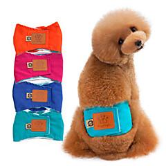 お買い得  犬用ウェア&アクセサリー-犬 パンツ 犬用ウェア ソリッド グリーン / ブルー / ピンク コットン / 洗濯可 コスチューム ペット用 男性用 カジュアル/普段着