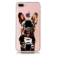 Недорогие Кейсы для iPhone X-Кейс для Назначение Apple iPhone X / iPhone 8 Plus Прозрачный / С узором Кейс на заднюю панель С собакой Мягкий ТПУ для iPhone X / iPhone 8 Pluss / iPhone 8