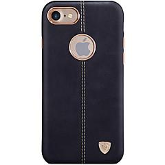 Недорогие Кейсы для iPhone 7-Кейс для Назначение Apple iPhone X iPhone 8 Ультратонкий Кейс на заднюю панель Сплошной цвет Твердый Кожа PU для iPhone X iPhone 8 Pluss