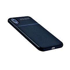 Кейс для Назначение Apple iPhone X iPhone 8 Ультратонкий Задняя крышка Сплошной цвет Мягкий Натуральная кожа для iPhone X iPhone 8 Plus