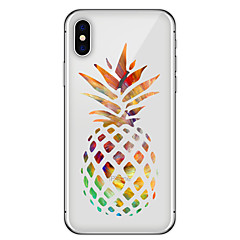 olcso iPhone 7 Plus tokok-Case Kompatibilitás Apple iPhone X iPhone 8 Plus Minta Fekete tok Gyümölcs Puha TPU mert iPhone X iPhone 8 Plus iPhone 8 iPhone 7 Plus