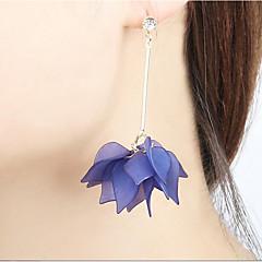 voordelige Oorbellen-Dames Bloemen Bladvorm / Bloem Druppel oorbellen / Ring oorbellen - Bloemen / Statement Geel / Blauw / Roze oorbellen Voor Causaal /