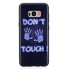halpa Galaxy S6 kotelot / kuoret-Etui Käyttötarkoitus Samsung Galaxy S8 Plus S8 IMD Kuvio Takakuori Punk Pehmeä TPU varten S8 Plus S8 S7 edge S7 S6 edge S6