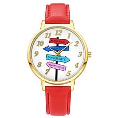preiswerte Herrenuhren-Herrn / Damen Armbanduhren für den Alltag / Modeuhr / Einzigartige kreative Uhr Chinesisch Chronograph / Wasserdicht / Armbanduhren für den Alltag Leder Band Freizeit / Elegant / Minimalistisch