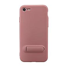 Недорогие Кейсы для iPhone 7 Plus-Кейс для Назначение Apple iPhone 7 Plus iPhone 7 со стендом Чехол Сплошной цвет Мягкий ТПУ для iPhone 8 Pluss iPhone 8 iPhone 7 Plus