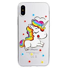 olcso iPhone tokok-Case Kompatibilitás Apple iPhone X iPhone 8 Plus Minta Hátlap Egyszarvú Puha TPU mert iPhone X iPhone 8 Plus iPhone 8 iPhone 7 Plus