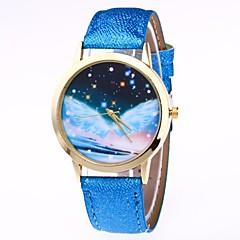 Damskie Zegarek na nadgarstek Chiński Kwarcowy Faza Księżyca PU Pasmo Kolorowy Czarny Biały Niebieski Brązowy Zielnony Różowy Rose