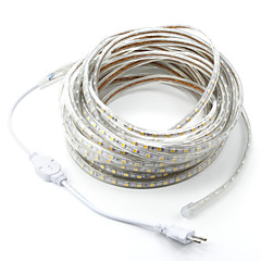 cheap LED Strip Lights-15M/1PCS  220V 5050 LED Flexible Tape Rope Strip Light Xmas Outdoor Waterproof   Garden outdoor lightingEU Plug EU