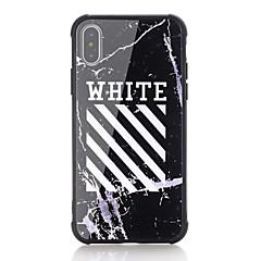 Недорогие Кейсы для iPhone 6-Кейс для Назначение Apple iPhone X iPhone 8 Защита от удара С узором Кейс на заднюю панель Слова / выражения Твердый Закаленное стекло для