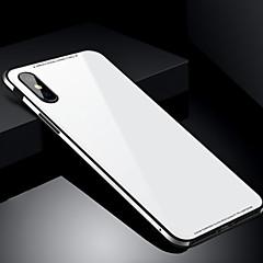 Case Kompatibilitás Apple iPhone X iPhone 8 Ütésálló Hátlap Tömör szín Kemény Edzett üveg mert iPhone X iPhone 8 Plus iPhone 8 iPhone 7