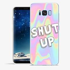 billige Galaxy S6 Etuier-Etui Til Samsung Galaxy S8 Plus S8 Mønster Bagcover Ord / sætning Marmor Blødt TPU for S8 Plus S8 S7 edge S7 S6 edge plus S6 edge S6
