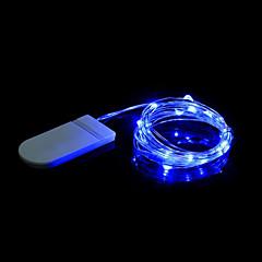 Vandtæt. 20 lysdioder Varm hvid Hvid Blå Grøn Lilla Dekorativ Batterier Powered