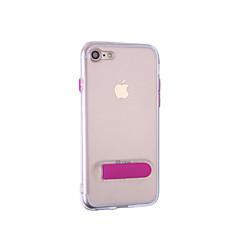 Недорогие Кейсы для iPhone 5-Кейс для Назначение Apple iPhone 7 Plus iPhone 7 со стендом Чехол Сплошной цвет Мягкий ТПУ для iPhone 8 Pluss iPhone 8 iPhone 7 Plus