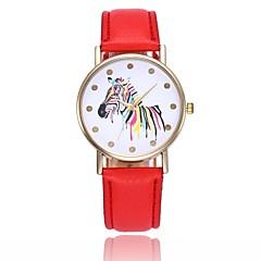 preiswerte Damenuhren-Damen Quartz Armbanduhr Chinesisch Armbanduhren für den Alltag PU Band Freizeit Minimalistisch Mehrfarbig Schwarz Weiß Blau Rot Orange