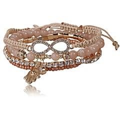Χαμηλού Κόστους Βραχιόλια-Γυναικεία Wrap Βραχιόλια Στρας Κλασσικό Μοντέρνα Γυαλί Προσομειωμένο διαμάντι Κράμα Άπειρο Κοσμήματα Καθημερινά Κοστούμια Κοσμήματα