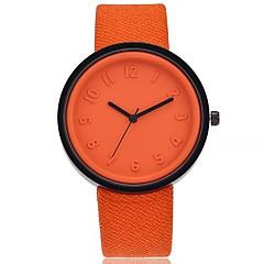 お買い得  大特価腕時計-女性用 リストウォッチ クォーツ 大きめ文字盤 生地 バンド ハンズ カジュアル ファッション ブラック / 白 / ブルー - レッド グリーン ピンク 1年間 電池寿命