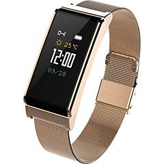 tanie Inteligentne zegarki-Inteligentne Bransoletka Bluetooth Wodoszczelny Czuj dotyku Pomiar ciśnienia krwi Kontrola APP Pulse Tracker Krokomierz Rejestrator