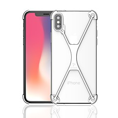 billige Etuier til iPhone 7-Etui Til Apple iPhone X iPhone 8 Stødsikker Stødfanger Rustning Hårdt Metal for iPhone X iPhone 8 Plus iPhone 8 iPhone 7 Plus iPhone 7